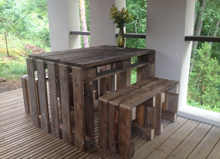 Puutarhakalusteet Kuormalavoista · Patio DesignRecycled MaterialsDiy  Furniture Part 93