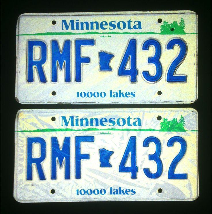 Targhe originali americane, stato del Minnesota
