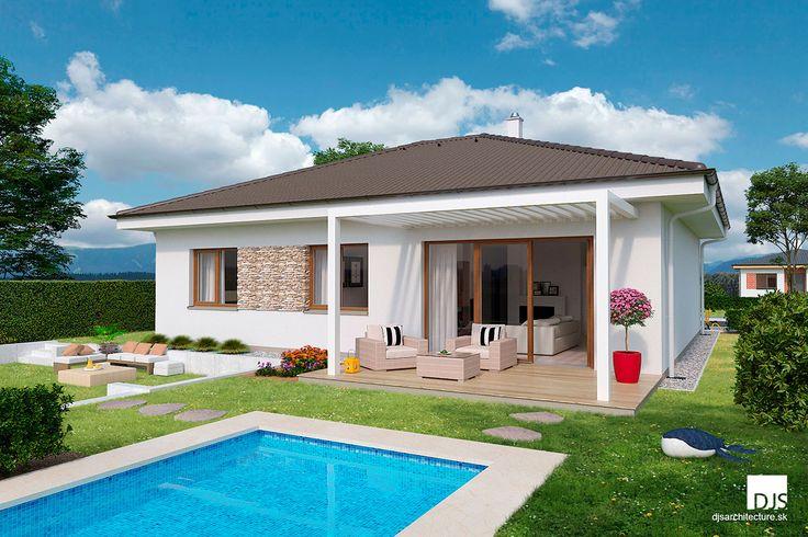 Bungalov O110 - 4 izbový prakticky riešený domček / Bungalow O110 - 3 bedroom house with a practical layout.