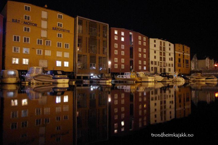 Skansen channel at night