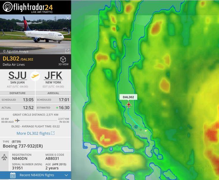 Un avión de Delta Airlines logra entrar y salir de Puerto Rico desafiando al huracán Irma - WebAdictos