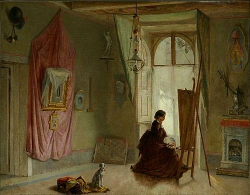 still life quick heart — Edwin White Studio Interior 1872