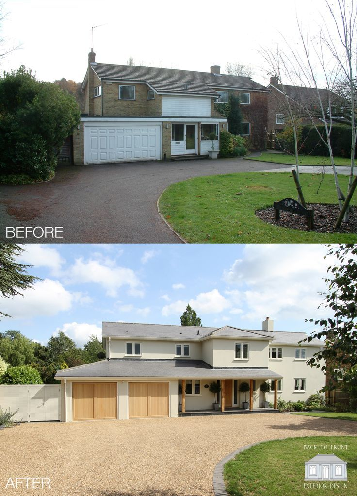 Home Exterior Design 5 Ideas 31 Pictures: Exterior Transformation 1960's House In Surrey By Back To