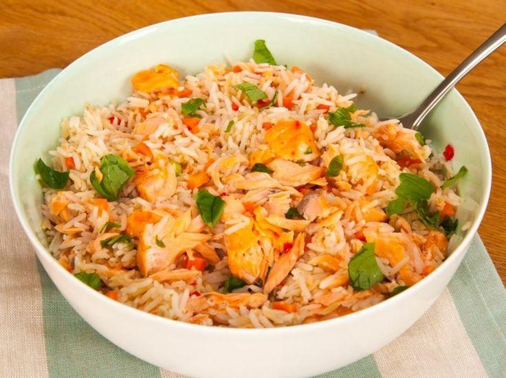 #salmon #salad #rice #healthy