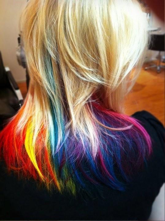 Rainbow Tips | Fantabulous Hair | Pinterest