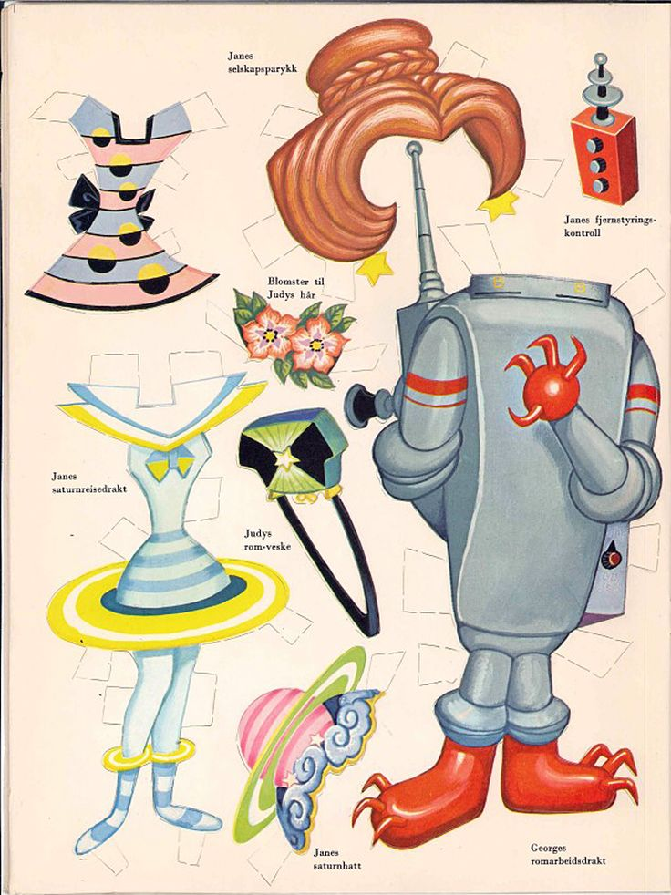 The Jetsons* Free paper dolls at Arielle Gabriel's The International Papef Doll Society and The China Adventures of Arielle Gabriel the huge China travel site by Arielle Gabriel *