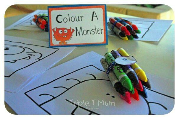 colour a monster!