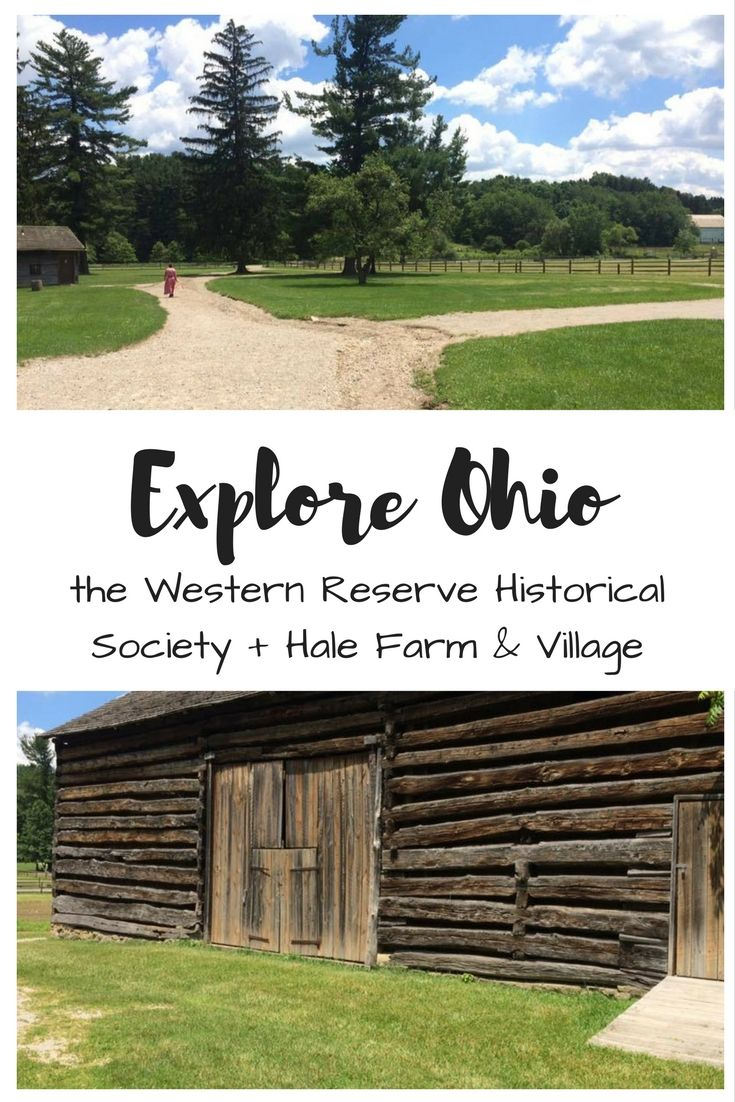 Explore Ohio with the Western Reserve Historical Society and Hale Farm and Village here in Bath, Ohio!   Enter to win a membership to the WRHS / Cleveland Starts Here  #ad