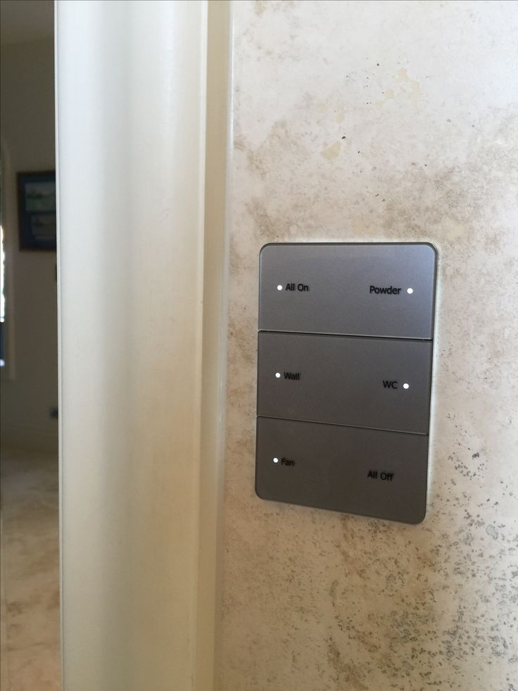 Antumbra Button keypad, silver finish with aluminium surround