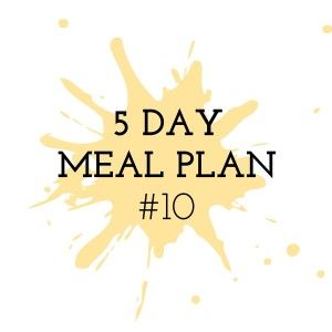 5 Day Meal Plan #10 - Cooking in the Chaos. Thermomix Recipes