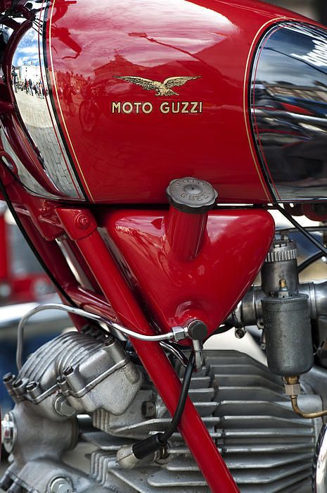 1953 Moto Guzzi Falcone Sport 500cc Print By Tim Gainey