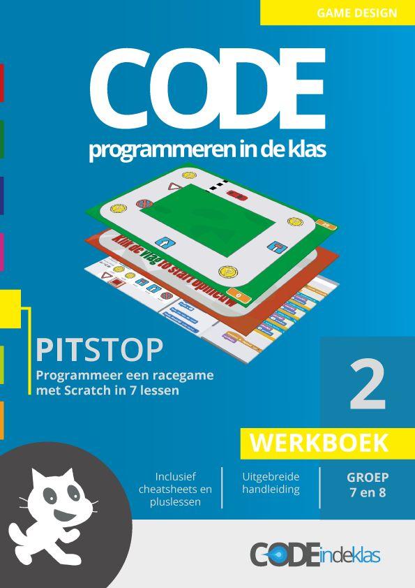Het tweede lesboekje - programmeren met je klas op de basisschool. Deze les is voor groep 7 en 8! Maak een racegame met Scratch.