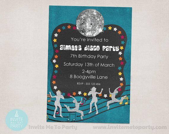 Disco Party Invitation / Dance Party Invitation by InviteMe2Party, $12.00
