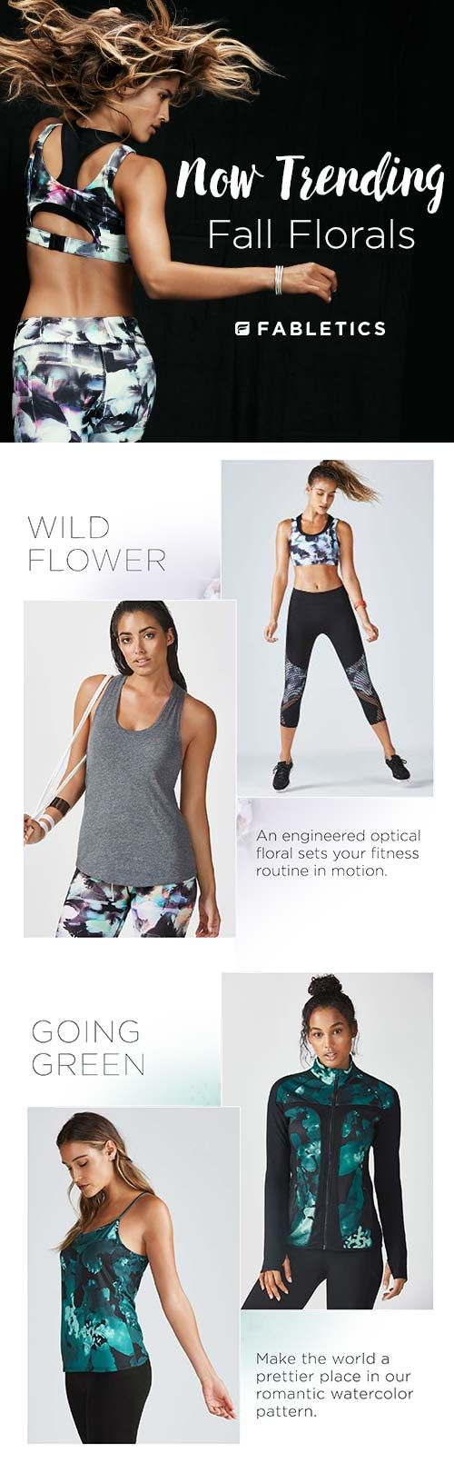 Now trending: Fall Florals. Discover Fabletics by Kate Hudson as we explore fall florals, delicate details, mesh panels and launch our Signature Bestsellers Collection. For a limited time only, get your first outfit for $15 when you become a VIP Member. Don't miss out on your favorite looks!