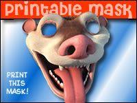 Ice Age 3 Free Printable Mask