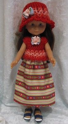 Handmade-Clothes-for-your-13-LES-CHERIES-COROLLE-dolls-Top-Hat-Skirt-21