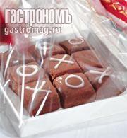 """Шоколадная карамель """"крестики-нолики"""""""