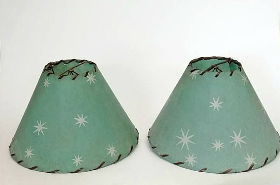 Hey, I found this really awesome Etsy listing at https://www.etsy.com/ca/listing/539172223/mid-century-modern-turquoise-lamp-shades