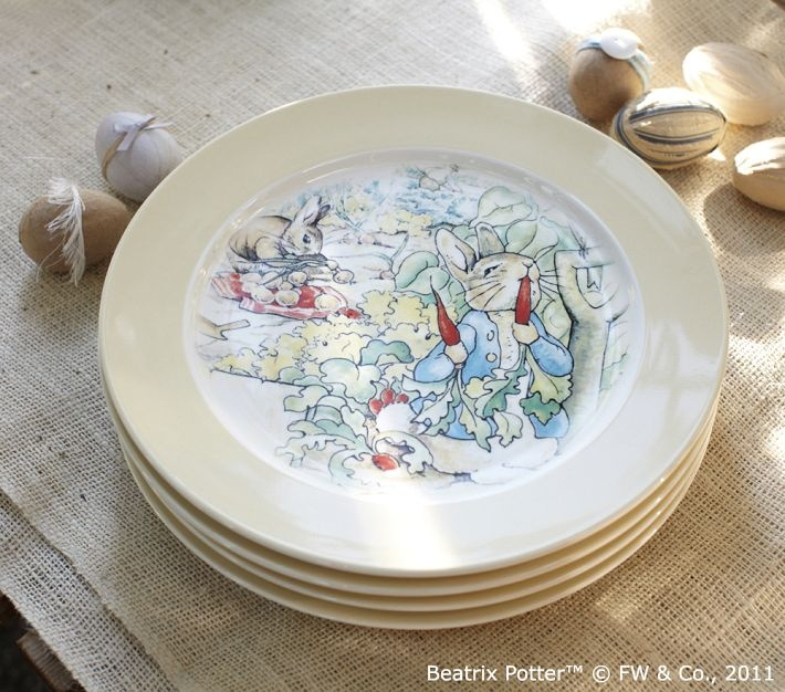Pottery Barn Peter Rabbit Plates: Pin By Janice Harris On Spring Tablescape And Decorating