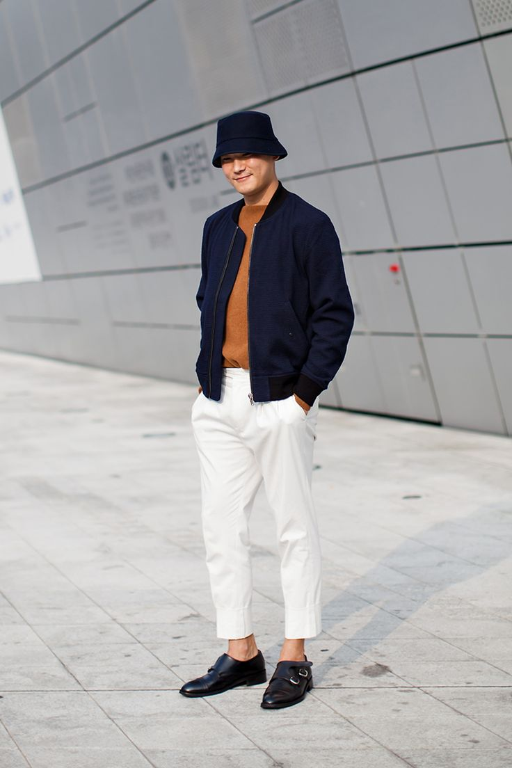 Hat | COS Jacket | Custommellow Shoes | Locc On the street… Jeon Seungkyu Seoul fashion week 2016 S/S