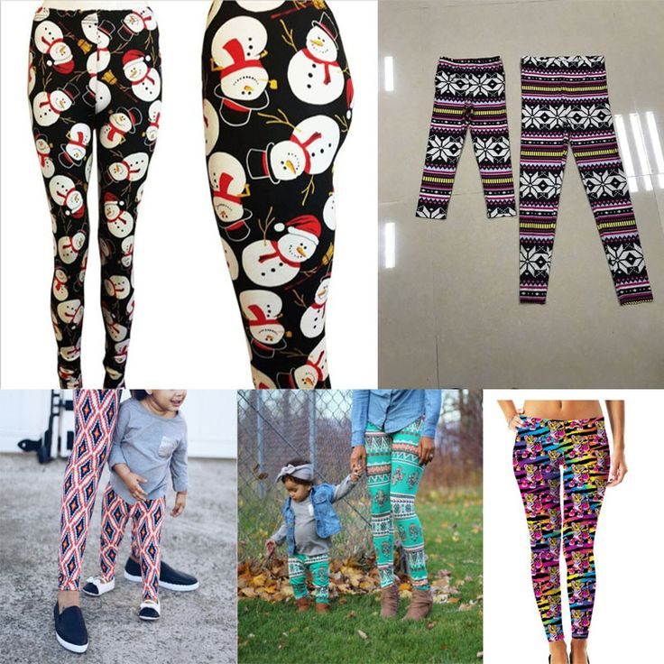 Christmas Mom Daughter Clothes Family Matching Outfits Mother daughter Pants Bohemia Printed Leggings Mommy and Me Matching pant
