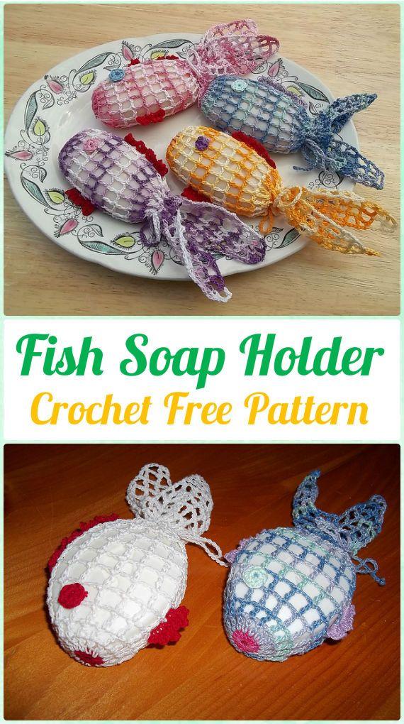 Crochet Fish Soap Holder Free Pattern - Crochet Spa Gift Ideas Free Patterns
