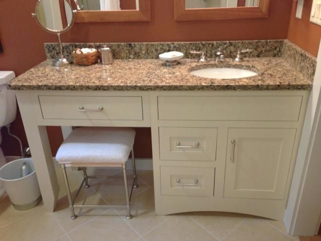 Image Result For One Sink Vanity With Seating Area Bathroom With Makeup Vanity Single Sink Bathroom Vanity Bathroom Vanity