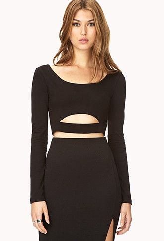 Clear Cut Crop Top | Forever 21 - 2031557834