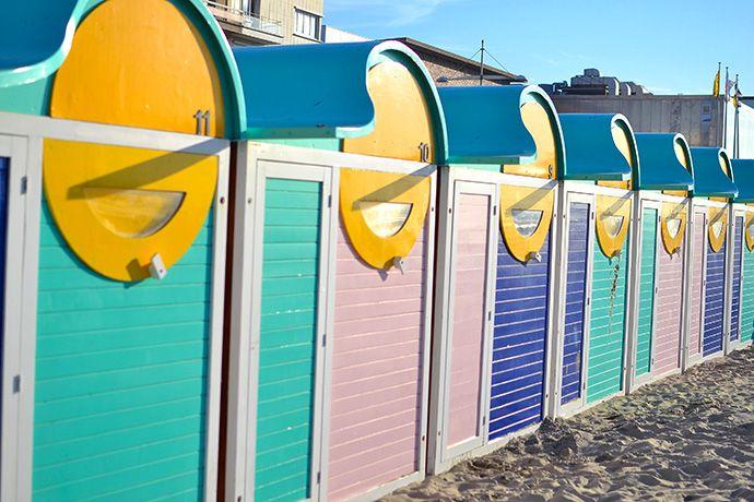 Bungalows de plage à Malo les bains