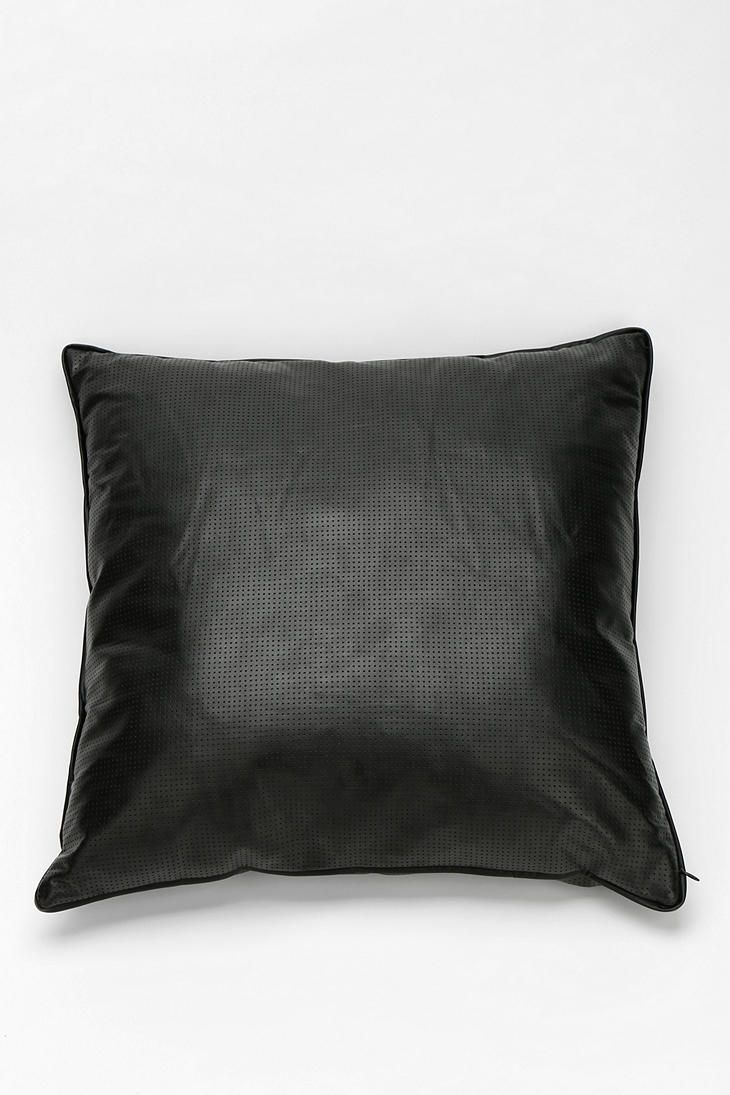 Shop Perforated Vegan Leather Pillow at Urban Outfitters today.