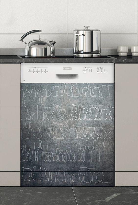 Les Meilleures Idées De La Catégorie Stickers Lave Vaisselle - Lave vaisselle pour idees de deco de cuisine