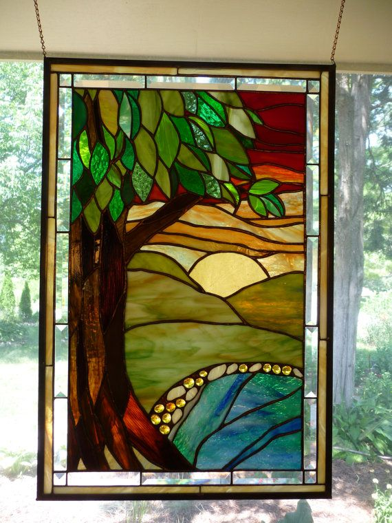 100 Best Images About Scenic Stained Glass On Pinterest