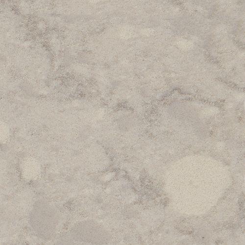 Viatera® Quartz surface in Natural Limestone - gray with green undertones