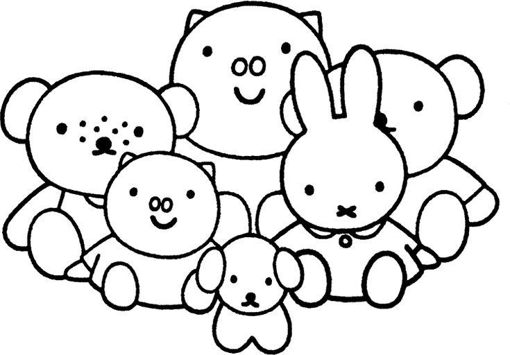 nijntje kring kleurplaten leuke tekening baby boek