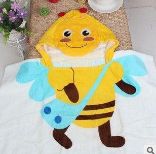 Детская хлопка с капюшоном полотенце с капюшоном детский мультфильм ангел детские халаты пу-пхи прямой пляж MJ