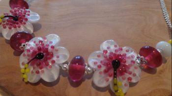 Hibiscus Frangipani Flower Necklace