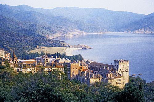 monastery of Vatopedi, Mt Athos, Halkidiki, Greece
