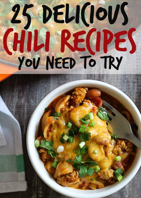 25 Delicious Chili Recipes That Are Perfect For Cold Weather