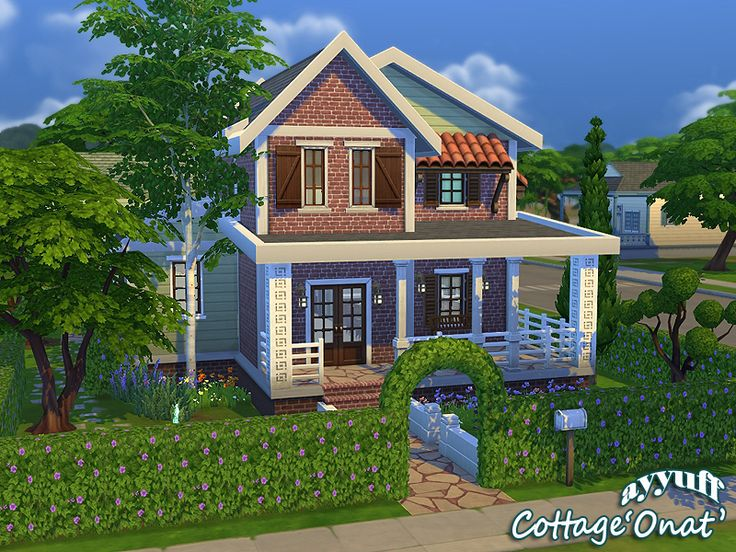 Ayyuff 39 s cottage onat furnished les sims 4 les for Maison sims 4 piscine