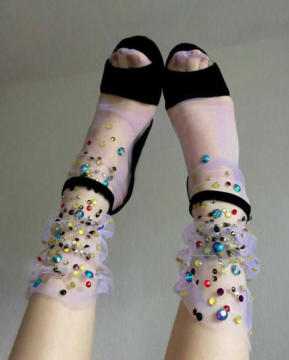 Hey, I found this really awesome Etsy listing at https://www.etsy.com/listing/537428145/feild-flowers-tulle-socks