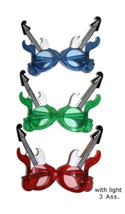 Lunettes guitare Lumineuses