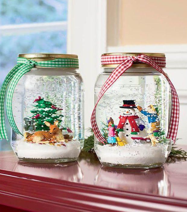 Decoración de navidad: bolas de nieve de lo más originales