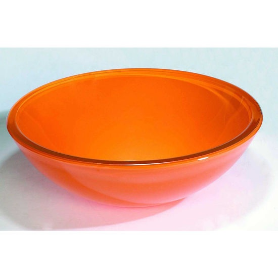 Attractive Orange Bathroom Basin | Vessel Sinks   Orange Tempered Glass Bathroom  Vanity Vessel Sink Bowl .