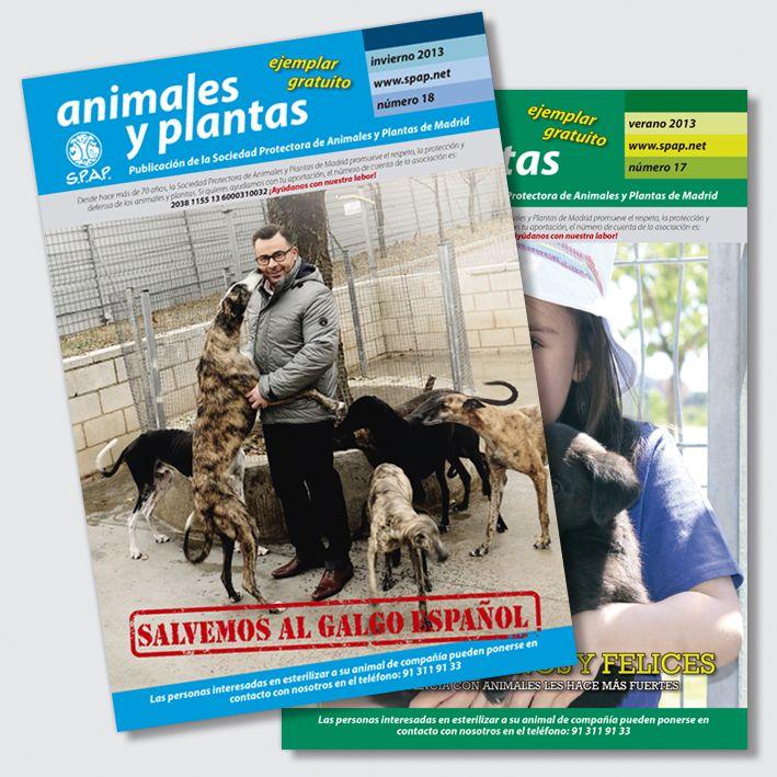Diseño, maquetación e impresión: SPAP Revista de la Sociedad Protectora de Animales y Plantas de Madrid. Gracias a su labor miles de perros y gatos abandonados pueden volver a tener un hogar.
