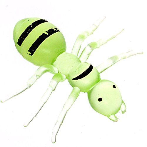 Cooplay 20pcs Fake Big Ant GiantAnts Queen Green Plastic Mock Reptile Insects Joke Toys Prank Scary Trick Tricky Brains For Halloween Party