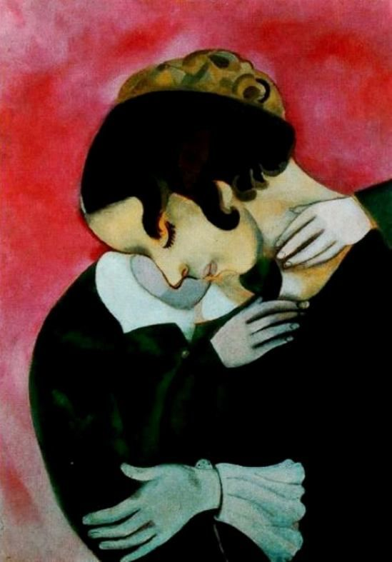 'Lovers in pink', 1916 - Marc Chagall.