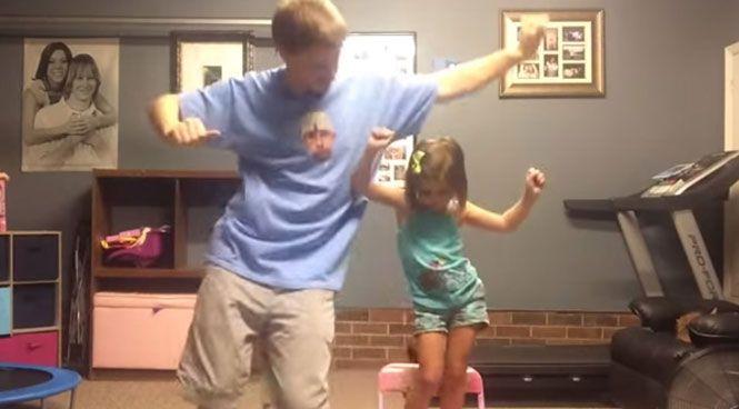 Πατέρας και κόρη σε απίθανο χορευτικό (Video)