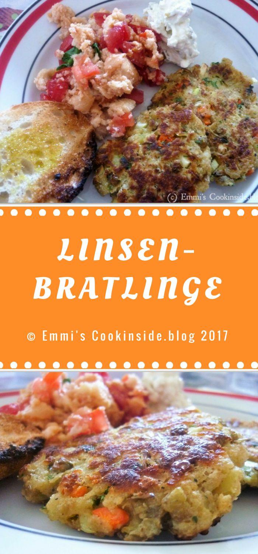 Linsen-Bratlinge - eine tolle Möglichkeit, Linsen zuzubereiten. Ganz und gar vegetarisch! Zutaten: Braune Linsen, Feta, Karotten, Ei. Einfaches Rezept!