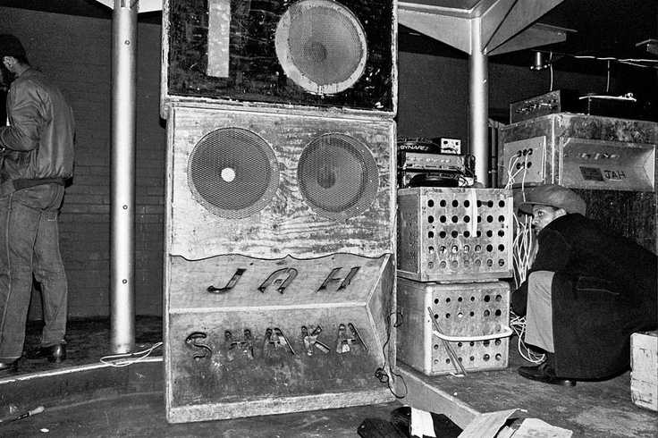 Respect the foundation! the mighty Jah Shaka Sound System in London circa 1984.