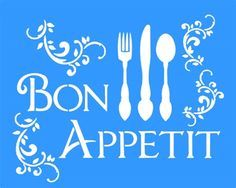 Stencil Bon Appetit 20x25 - OPA Mais